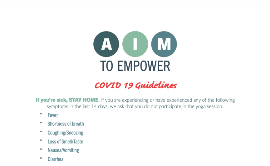 COVID-19 Guidelines Poster